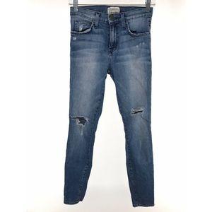 Current Elliott High Waist Ankle Skinny Jeans 25